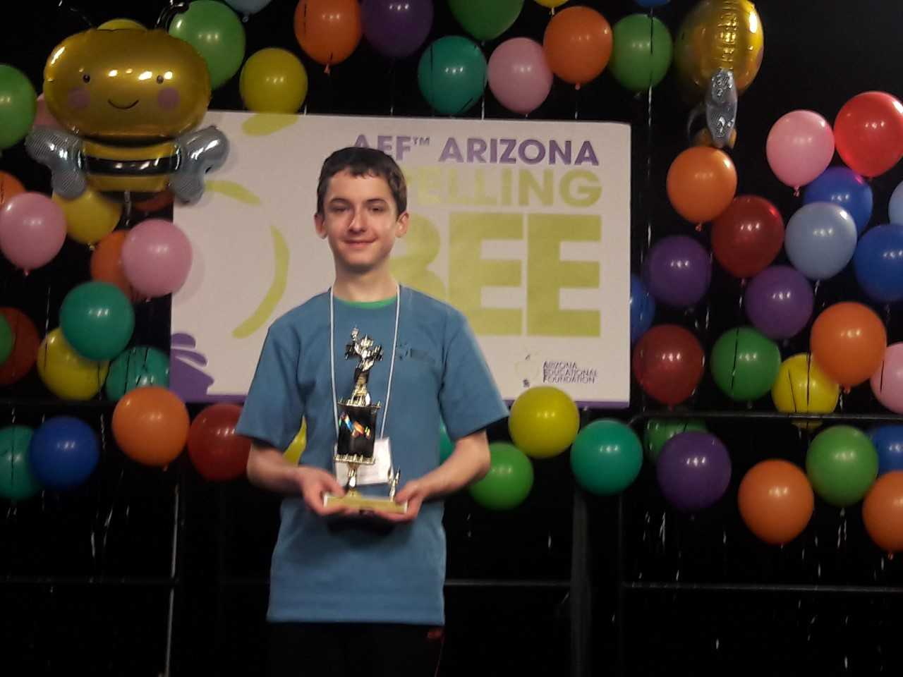 Marcus Giorza's Love Of Words Will Come Into Play When The Madison No. 1 Middle School Seventh-grader Competes With 400-500 Spellers From Across The United States In The Scripps National Spelling Bee On May 27– June 1. Photo Courtesy Madison Elementary School District