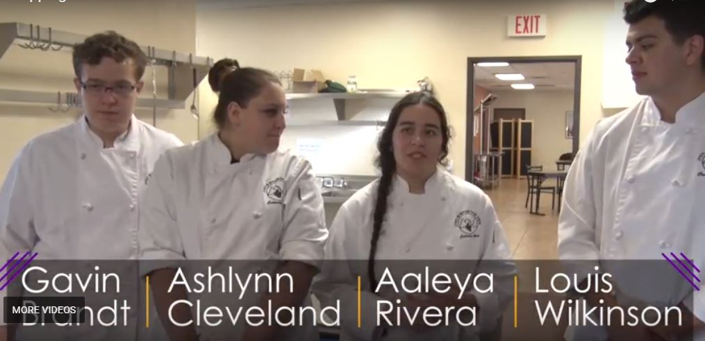 JTED @ Mountain View Culinary Arts Students Gavin Brandt, Ashlynn Cleveland, Isacc Moreno, Aaleya Rivera, And Louis Wilkinson Have Have Spent Extra Hours After School Working With Their Instructors And Local Chefs Perfecting Their Skills. Photo Courtesy Pima County JTED