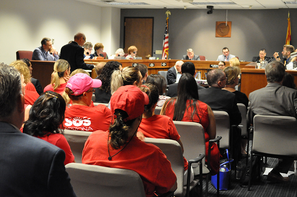 Education Advocates Attend A Legislative Council Hearing To Develop Language For Ballot Propositions Including Invest In Ed On Wednesday, July 25, 2018 In Phoenix. Photo By Lisa Irish/AZEdNews