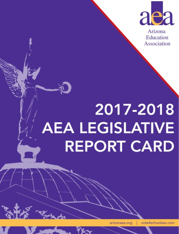 Voting records show legislators' levels of support for public education AEA-2017-to-2018-Legislative-Report-Card