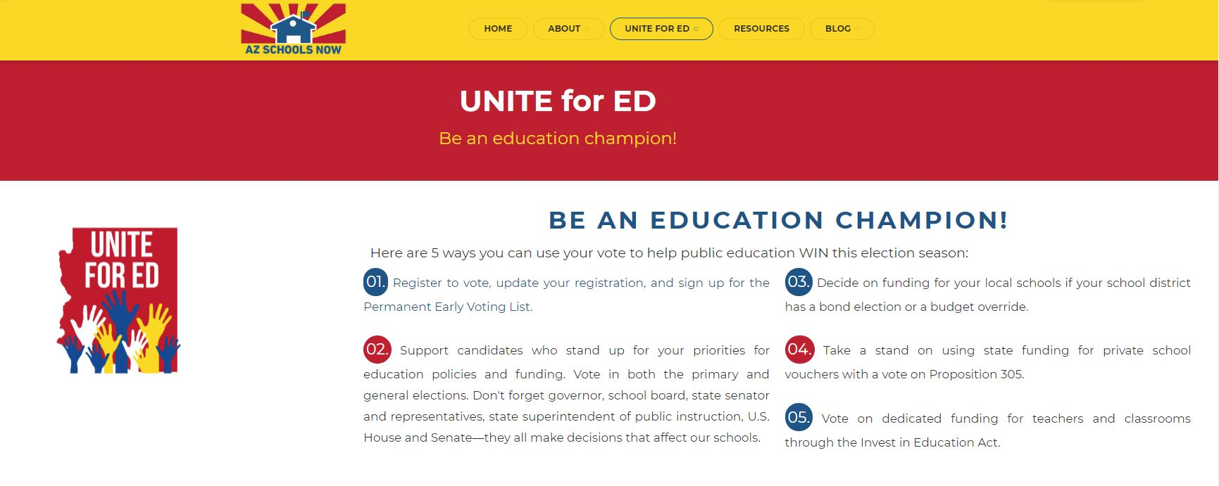 Voting records show legislators' levels of support for public education AZ-Schools-Now-Unite-for-ED