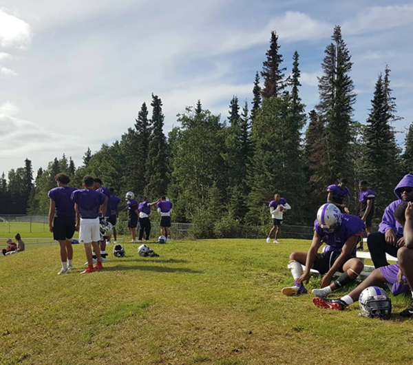 Cesar Chavez High School's football team kicked off their season in Alaska Cesar-Chavez-Team-practice