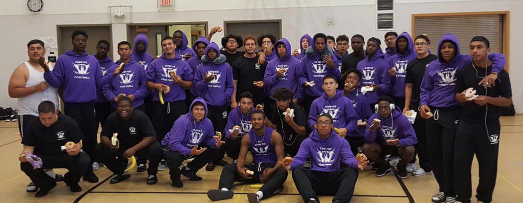 Cesar Chavez High School's football team kicked off their season in Alaska CesarChavezTeamGroupPhoto