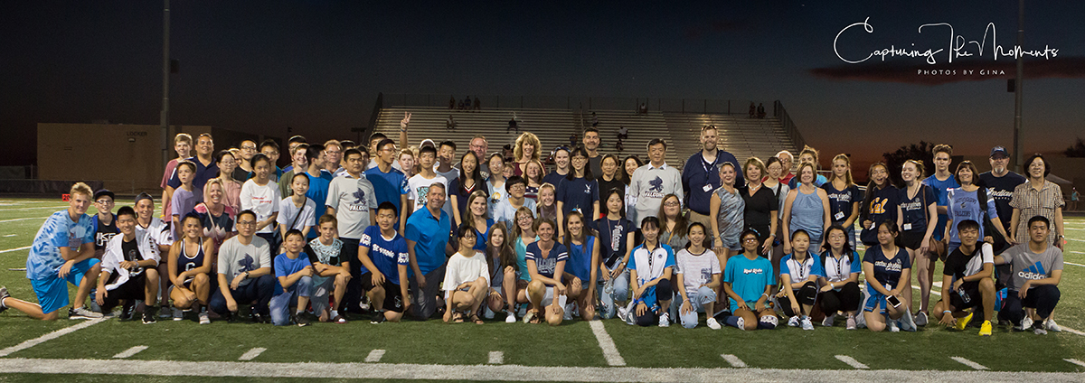Forty Chinese Middle And High School Students From Yichang, Hubei Province In China Visited Sonoran Trails Middle School And Cactus Shadows High School With Their Student Hosts And Attended Cactus Shadows First Home Football Game Of The Season. Photo Courtesy Gina Brown
