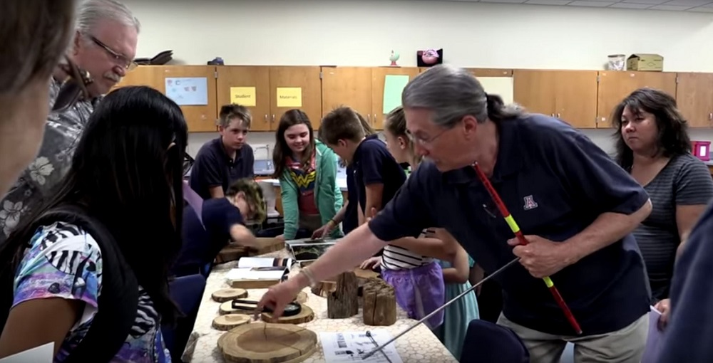 Students Measure Tree Rings During A Family STEM Night At Mansfeld Magnet Middle School. Photo Courtesy Mansfeld Magnet Middle School Video