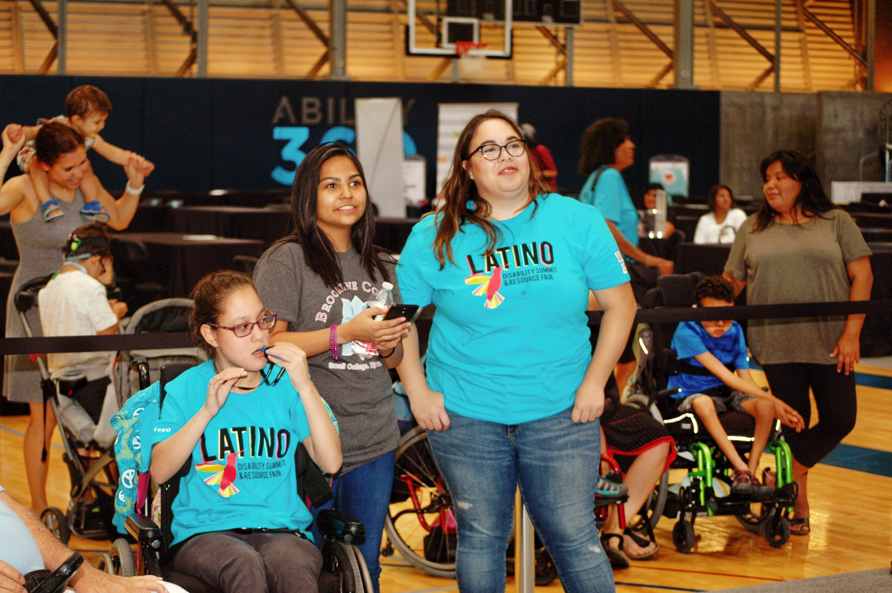 Mia Daniels (left), A Student At Cesar Chavez High School, And Her Caregiver, Who Graduated From Cesar Chavez High School Last Year, Attended The Disability Forum And Expo Event Last Year. Photo Courtesy Arizona Latino Council On Disabilities