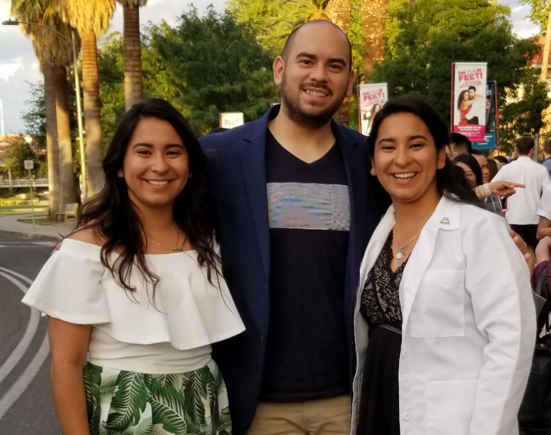 College Success Arizona Alumnae Naiby Rodriguez, (right) Walked Across The Stage And Was Given Her White Coat To Commemorate The Beginning Of Her Medical School Journey At The University Of Arizona. Photo Courtesy Of College Success Arizona