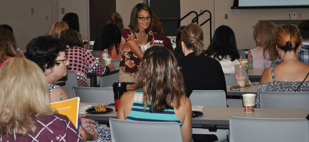 Teachers Discuss Discipline During The Trauma Sensitive Schools Symposium At Balsz Conference Center On July 17, 2018 In Phoenix. Photo By Lisa Irish/AZEdNews