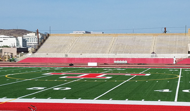 Tucson Magnet High School's Rollin T. Gridley Stadium After The Renovations Were Complete. Photo Courtesy Tucson Unified School District