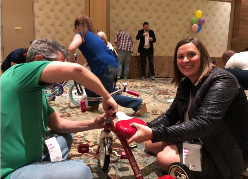 The HandsOn Greater Phoenix Team Helped A Group Of 250 Volunteers From GoDaddy Assemble 90 Bicycles For The Children's Cancer Network. Photo Courtesy Of HandsOn Greater Phoenix
