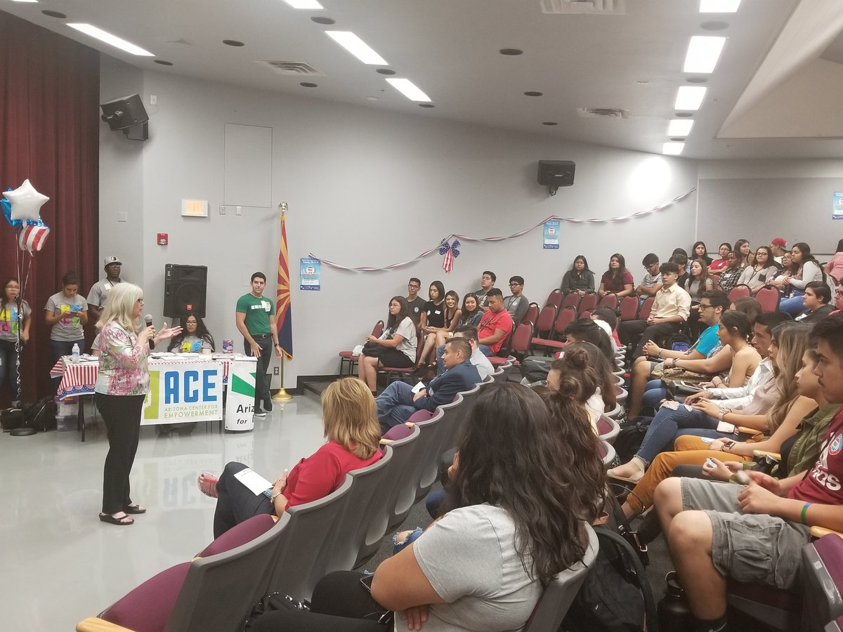 Arizona Rep. Lela Alston Talks To Students At Metro Tech High School Who Registered To Vote On Sept. 25, 2018. Photo Courtesy Phoenix Union High School District