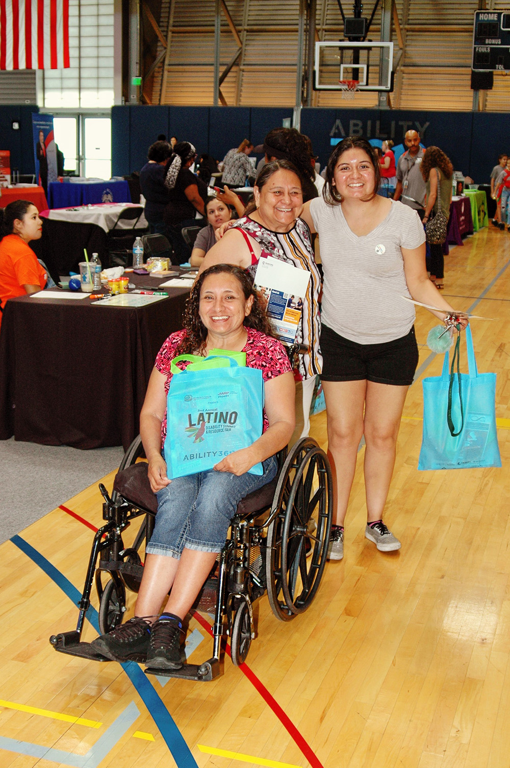 Alhambra High School hosts Disability Forum and Expo on Sept. 8 Resource-Fair-Attendees-w-bags