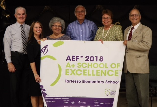 Connecting learning to real world makes Tartesso an A+ School Tartesso-Elementary-School-receives-A-Award