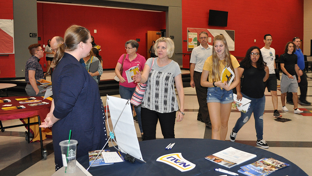 About 300 High School Students And Their Families Learned More About Arizona's Public Universities, The Admissions Process And What They Need To Do To Be Considered For Financial Aid During The Tri-University Tour On Monday Evening At Liberty High School In Peoria. Photo By Lisa Irish/AZEdNews