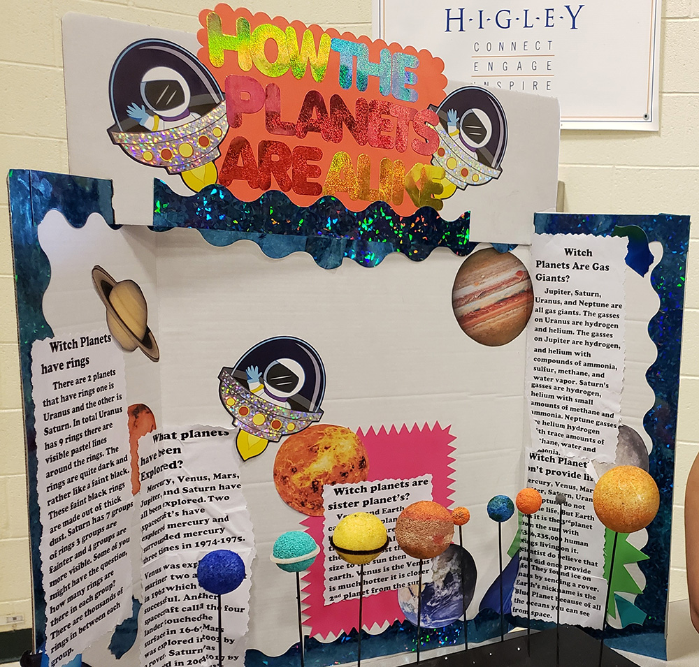 Fifth Graders At Centennial Elementary In The Higley Unified School District Displayed Their Learning Through Research, STEM Activities, Creativity, And Curiosity On All Topics Related To Earth And Space Science During The School's Second Earth And Space Independent Study Showcase. Photo Courtesy Higley Unified School District