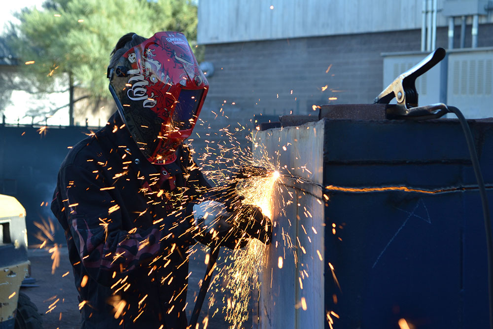 The Welding Program At The East Valley Institute Of Technology Also Serves As An Accredited Testing Facility For The American Welding Society. EVIT Welding Students Have The Opportunity To Earn AWS Certifications. EVIT Photo By Patrick Jervis