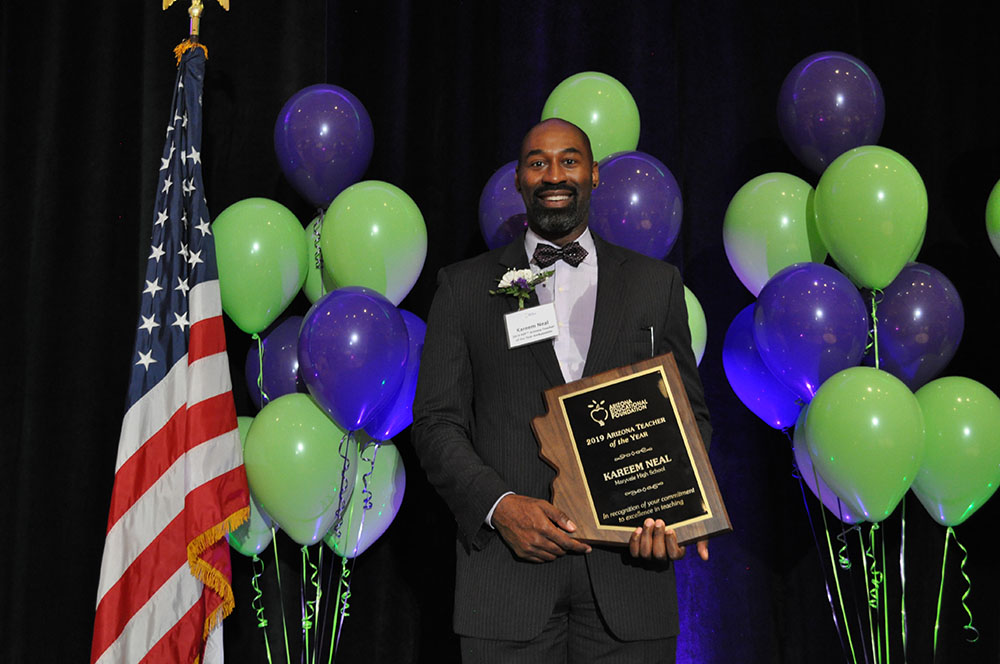 Kareem Neal, A Special Education Teacher At Maryvale High School, Is The Arizona Educational Foundation's 2019 Teacher Of The Year. Photo By Lisa Irish/AZEdNews