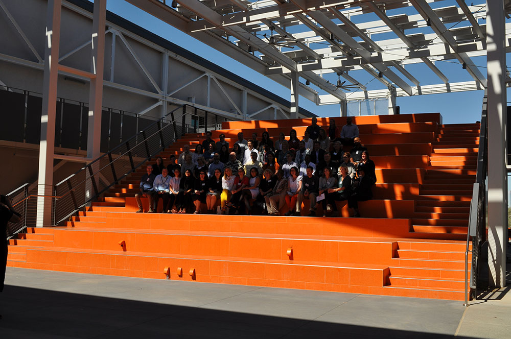 District gets international attention for re-thinking what school looks like Learning-Stairs