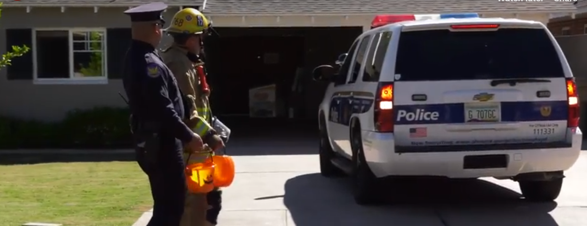 Phoenix Fire And Police Departments' Remind Families How To Keep Children Safe During Halloween. Photo Courtesy Phoenix Fire And Police Departments
