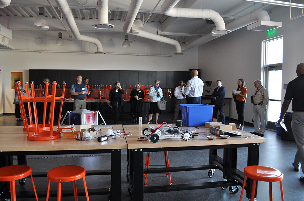 District gets international attention for re-thinking what school looks like Robotics-Lab