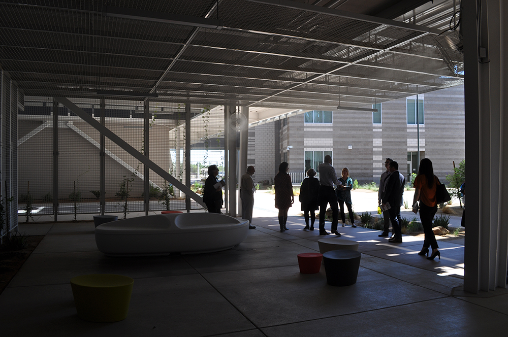 Slideshow: The Innovative Learning Environments and Teacher Change project symposium at Canyon View High School Shaded-Gathering-area