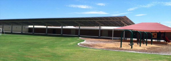 Solar Panels Provide Shade Cover In Play Areas. Photo Courtesy Tucson Unified School District