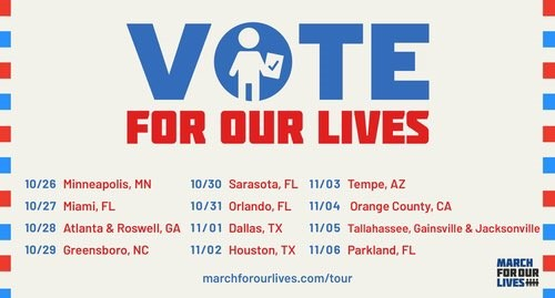 Vote For Our Lives Event Schedule