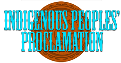 Indigenous Peoples' Proclamation Logo