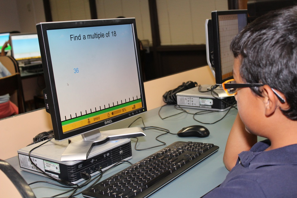 A Student In Osborn School District Uses The ST Math Program During His Math Class. Photo Courtesy Of APS Foundation