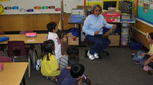 Students At Puente De Hozho Learn Dine (Navajo Language) Words In Their Classroom. Photo Courtesy Puente De Hozho School