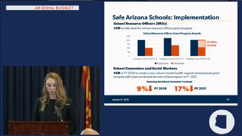 Gov's budget details: More funds for school repairs, counselors, career education Sarah-Safe-schools-plan