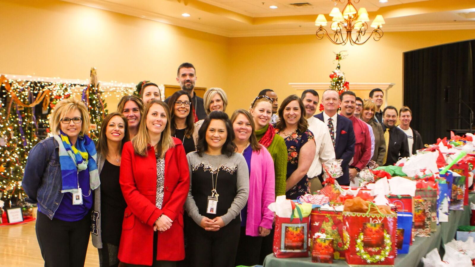 This Holiday Season, 140 Children From Families In The Higley District Received Special Surprises Thanks To The Love And Care Of Trilogy Residents. Photo Courtesy Ryan Collier/ Higley Unified School District