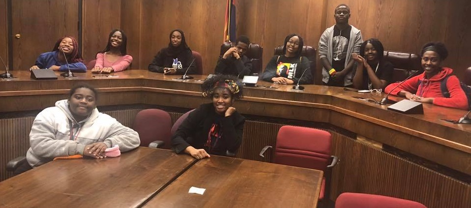 North High Schools Black Student Unions At The 15th Annual African American Legislative And Leadership Conference At The Arizona Legislature. Photo Courtesy North High School's Black Student Union