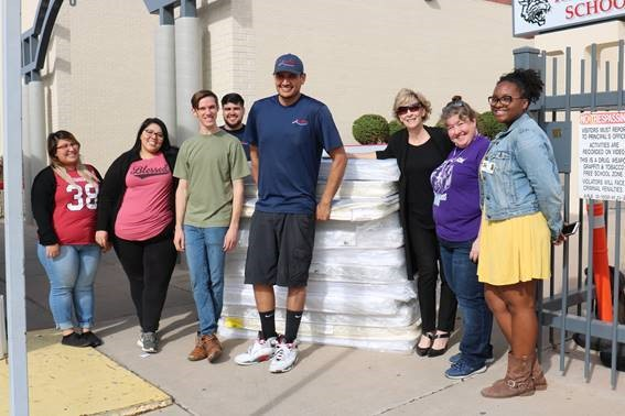 American Furniture Warehouse Donated 145 Mattresses To Phoenix Union Community Liaisons To Give To Students' Families In Need. The Project Was In Conjunction With Homeless Youth Connection. Photo Courtesy Phoenix Union HIgh School District