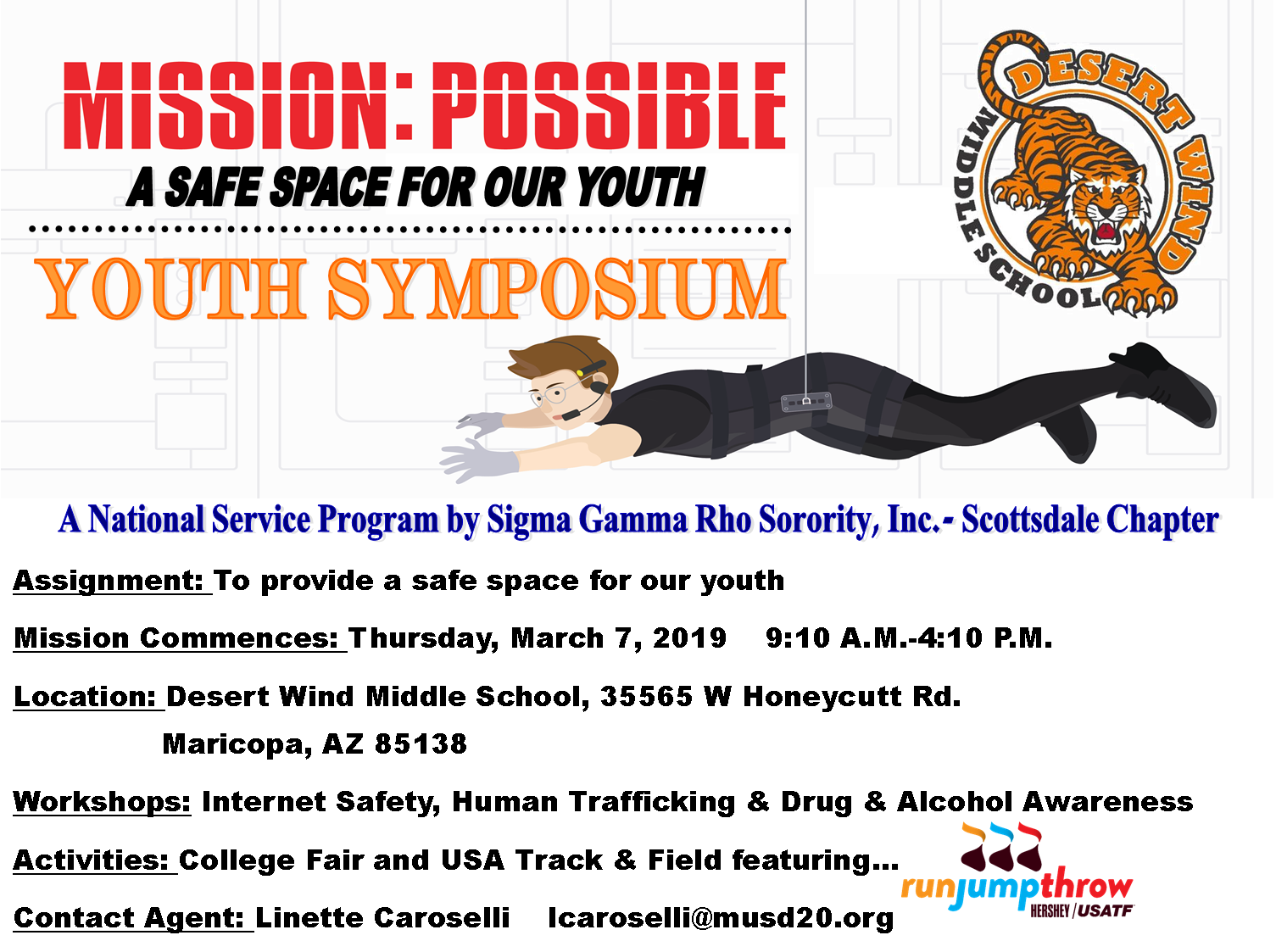 "Desert Wind Middle School And Sigma Gamma Rho Sorority, Inc .- Scottsdale Chapter Will Host The 22nd Annual Youth Symposium – ""A Safe Space For Our Youth."" Courtesy Of Maricopa Unified School District"