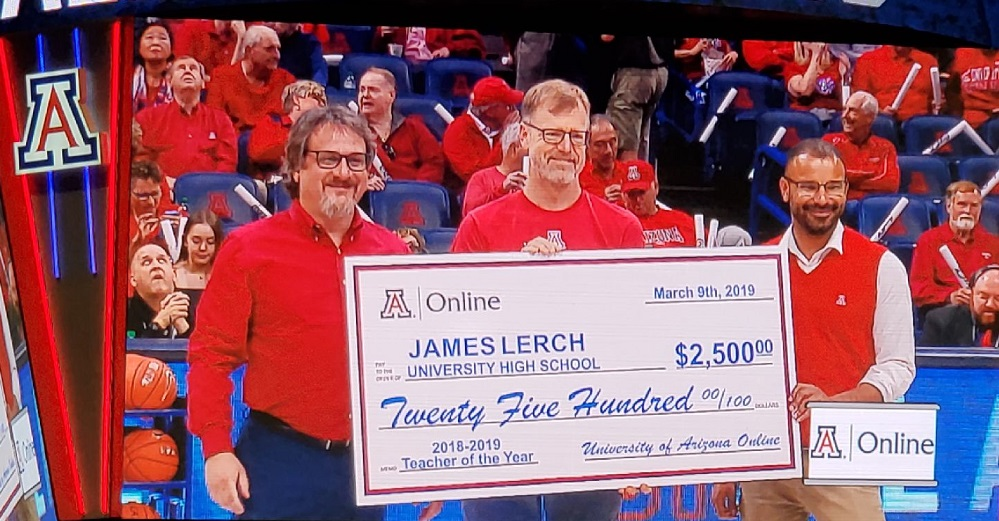 University High School Economics Teacher Jim Lerch Was Named Teacher Of The Year By Arizona Athletics / UA Online. Photo Courtesy Tucson Unified School District
