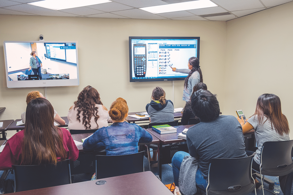 Through TALON, NPC's Instructors Teach Their Courses Utilizing State-of-the-art Technology With Two Monitors, One For The Instructor And One To Display Content. Photo Courtesy Northland Pioneer College