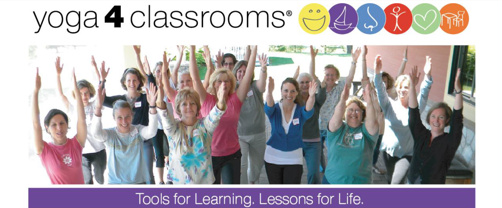 Yoga 4 Classrooms Graphic Of Teachers Doing Yoga Poses. Photo Courtesy Of Yoga 4 Classrooms