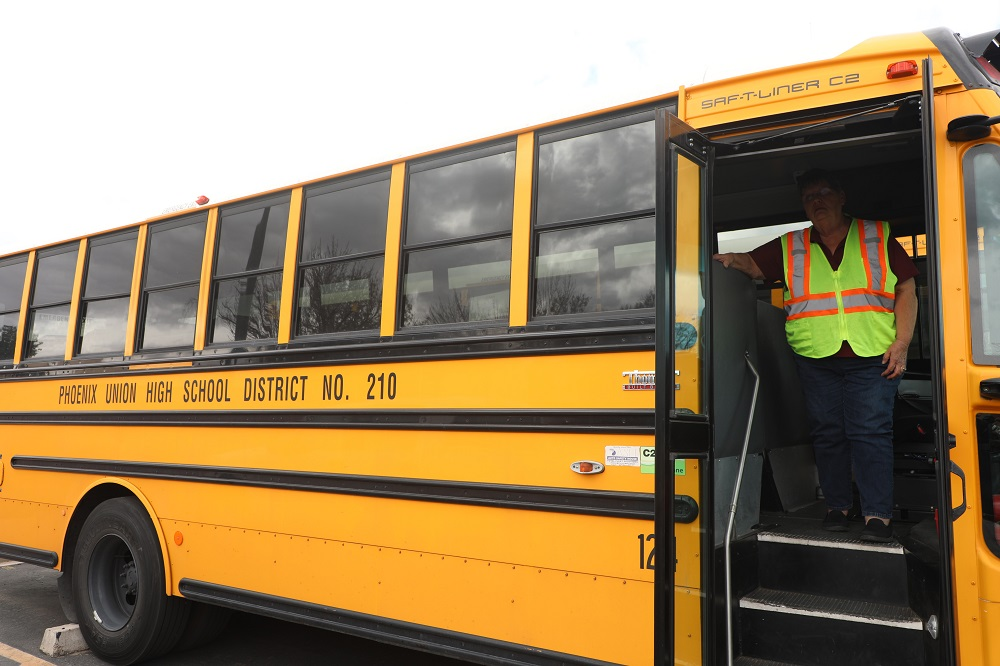 Phoenix Union Bus Drivers Are Getting A Significant Raise Next School Year, To $18.47 An Hour And Up, Depending On Experience. Photo Courtesy Phoenix Union High School District