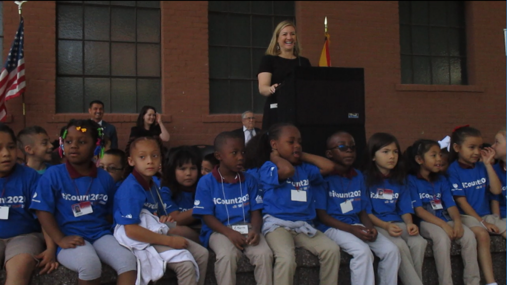 Census kick-off focuses on  funding, schools, political representation CensusPHXMayorKateGallego2-1024x576