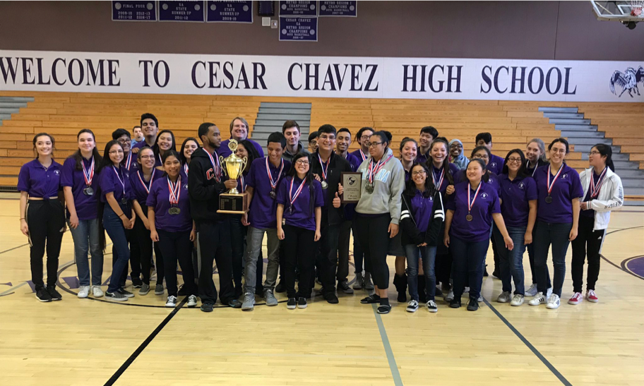 Cesar Chavez High School's Team Places 5th In State Academic Decathlon