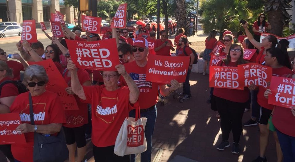 Last Week, Teachers Rallied In Downtown Tucson For More Funding, And Talked About The Ongoing Challenges They Face In Their Classrooms. Photo Courtesy Of Invest In Education Arizona
