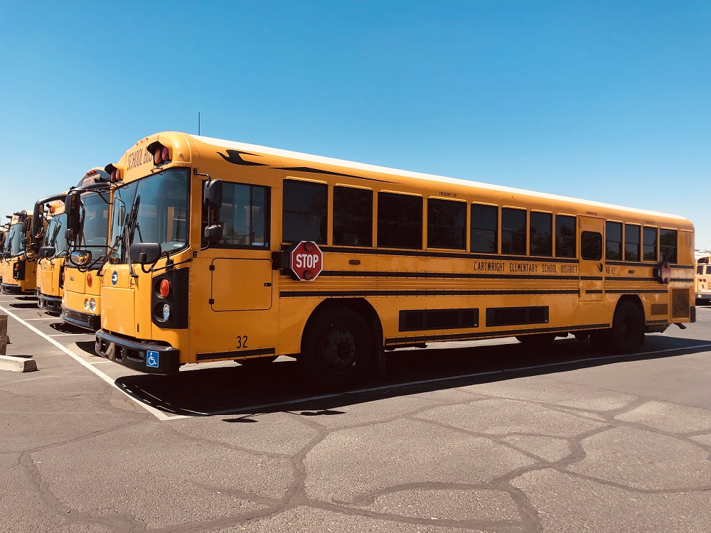 Beginning July 1st Cartwright School District Bus Drivers Will Be Getting A $2.47 An Hour Raise, Making Cartwright The Top Paying Elementary School District In The West Valley For Bus Drivers. Photo Courtesy Cartwright School District