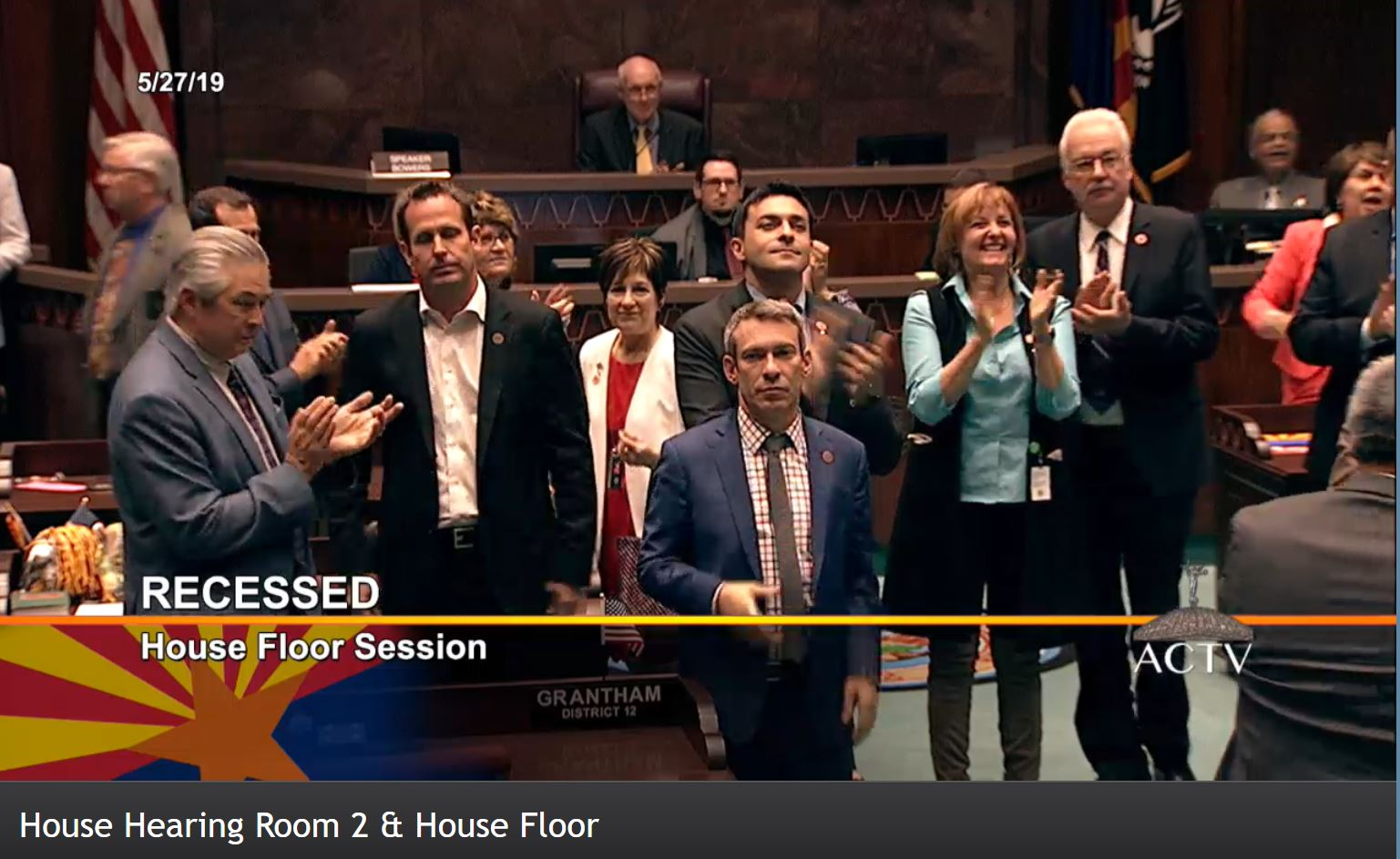 The House Of Representatives After Approving The Budget And Related Bills And Adjourning Sine Die Early On Monday, May 28, 2019. Photo Courtesy Of Arizona Capitol Television.