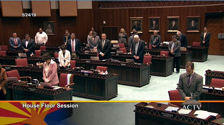 House still working on budget bills, Senate to meet Saturday at 10 a.m. House-rises-in-oment-of-silence-for-Sen-John-Pinto
