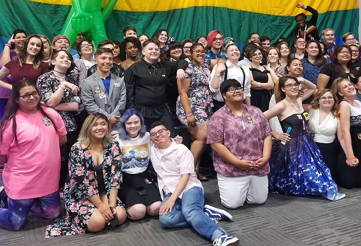 Members Of Verrado High School Gay Straight Alliance At GLSEN Phoenix's Breaking The Silence Dance. Photo Courtesy Verrado High School Gay Straight Alliance