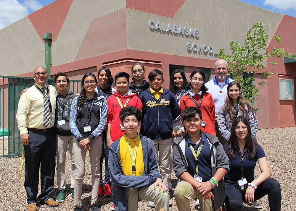 Qualifying Students From Calabasas Are: Cesar Campos, Angel X. Godinez, Alexandra Hernandez, Stefen E. Kemp, Christopher N. Niebla, Maria M. Armenta, Sabrina J. Ceja, Gamaliel De La Rosa, Ivanna Garcia, Sofia B. Ibarra, Airyle L. McIlrath, Miren V. Miranda. Photo Courtesy Santa Cruz Valley Unified School District No. 35