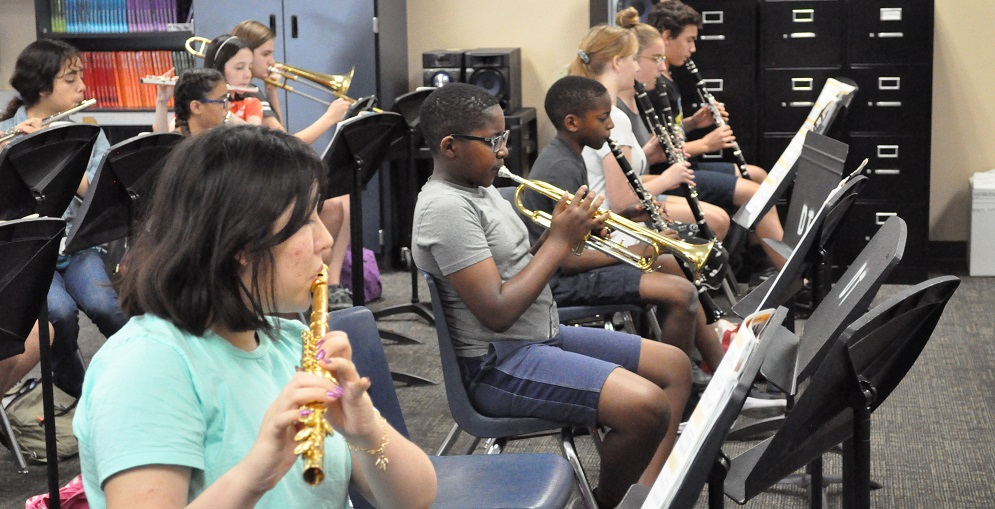 Students Play Songs During Avondale Summer Band Academy On June 18, 2019 At Desert Thunder School In Goodyear. Photo By Lisa Irish/AZEdNews