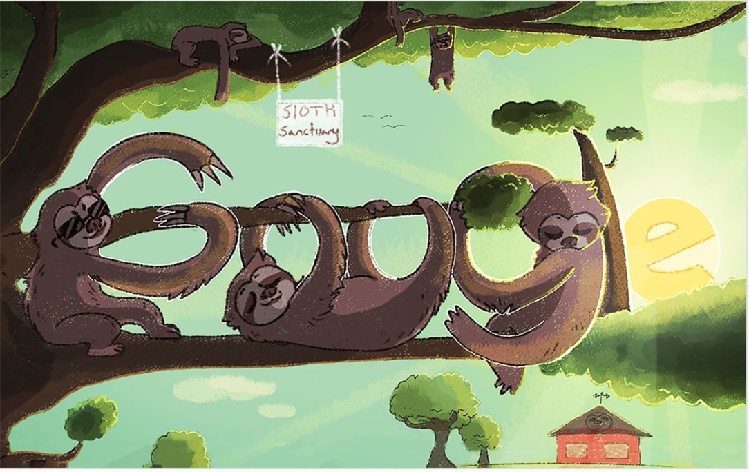 "Ella Kinnersley, A Valley Vista High School 9th Grader Has Won The Arizona Doodle For Google Contest And Is In The Running To Be A National Finalist With Her Doodle Titled, ""Sloths Are Neato"". Voting Is Open Through This Friday, June 7 At Https://doodles.google.com/d4g/. To Cast Your Vote, Just Click On The ""Cast Your Vote"" Button, Then Select The ""8-9 Graders"" Tab And Click On Her Doodle For Arizona. Photo Courtesy Dysart Unified School District"