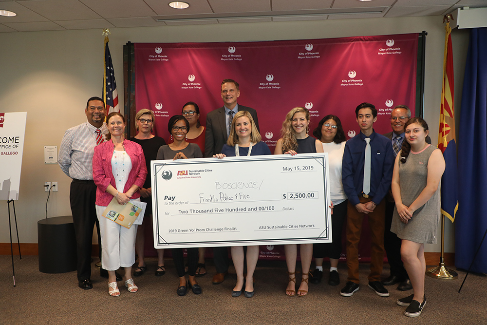 Bioscience High School And Franklin Police And Fire High Schoolcombined Their April 30 Prom At Franklin, And Saving On Duplicating Events And Locations, The Two Schools Took First And Second Place Prizes, Worth $2,000 For Each School. Photo Courtesy Office Of The Phoenix Mayor